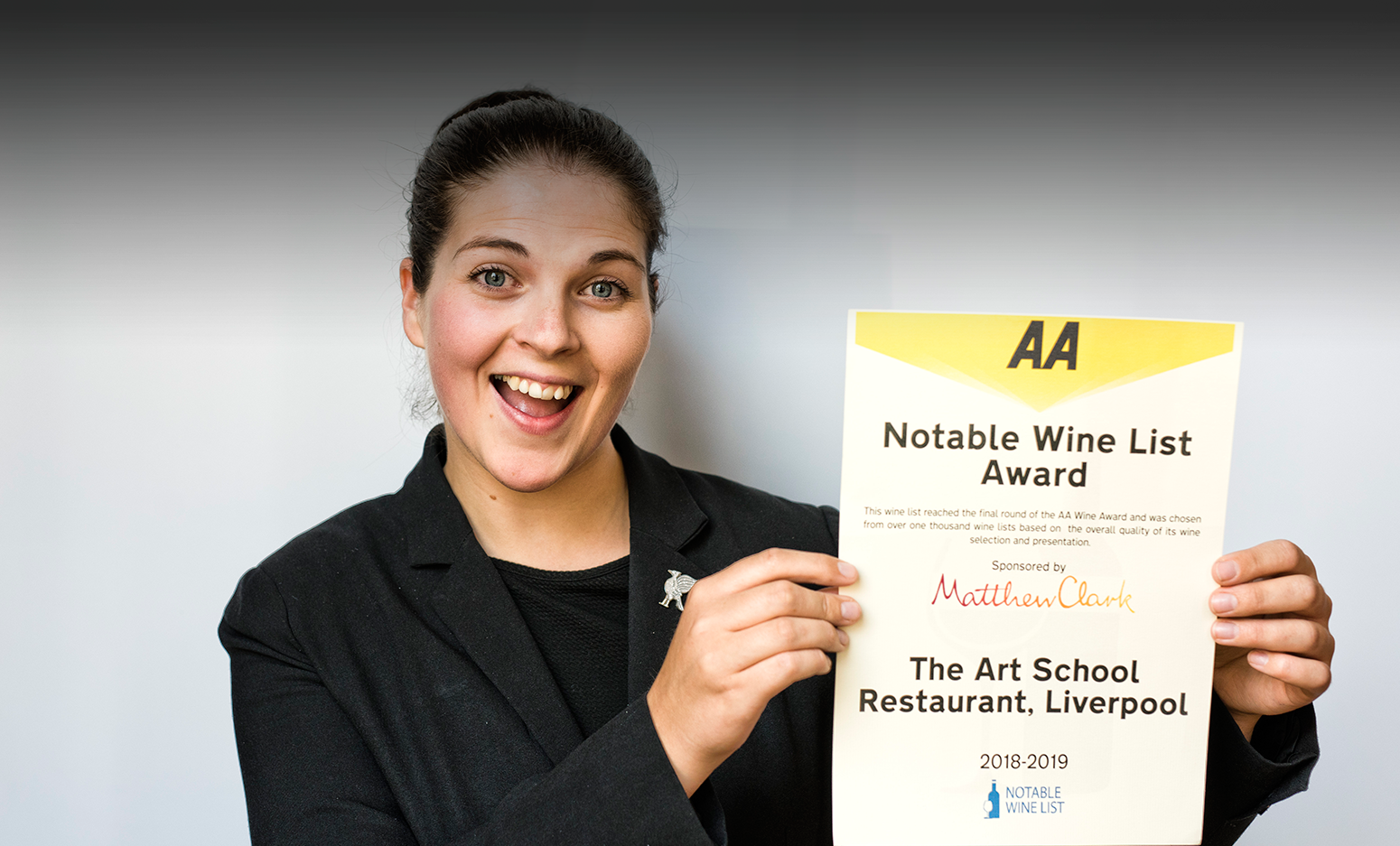 sarah Head sommelier The Art School Notable Wine List AA Award Rosette