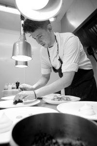 Tom Parker The White Swan - 1 Michelin Star guest chef dinner at The Art School Restaurant