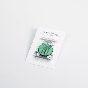 The Art School Green Lapel pin badge