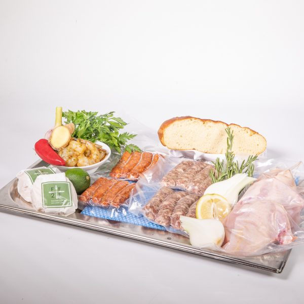 The Art school at home barbecue BBQ bank holiday box with instructions from chef paul askew.